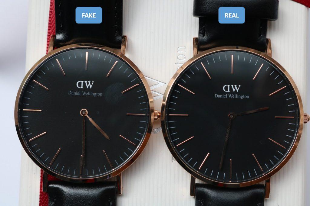 2 loại đồng hồ Daniel Wellington chính hãng và fake