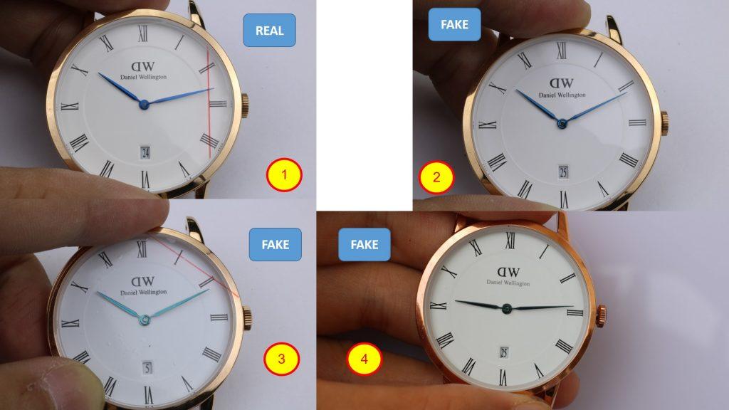 So sánh mặt số đồng hồ Daniel Wellington