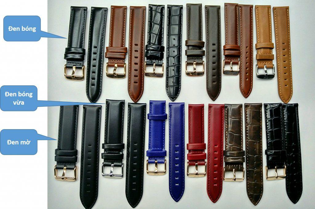 các loại dây da đồng hồ daniel wellington chính hãng và fake