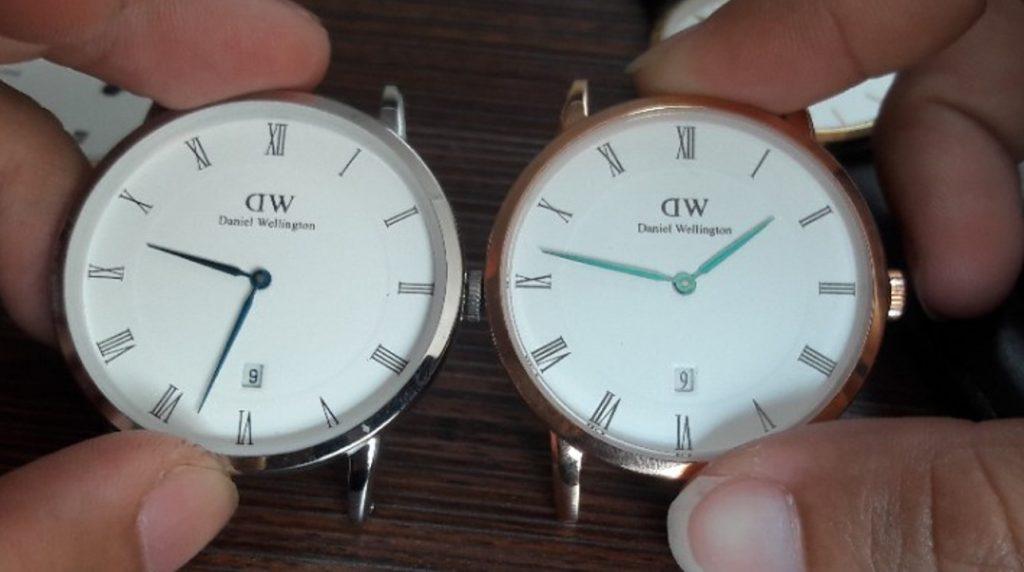 2 loại kim fake đồng hồ Daniel Wellington