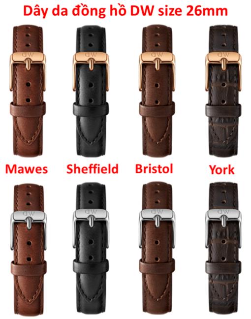 dây da đồng hồ daniel wellington chính hãng size 26mm