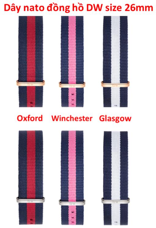 dây vải nato đồng hồ daniel wellington chính hãng size 26mm