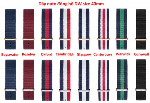 dây vải nato đồng hồ daniel wellington chính hãng size 40mm