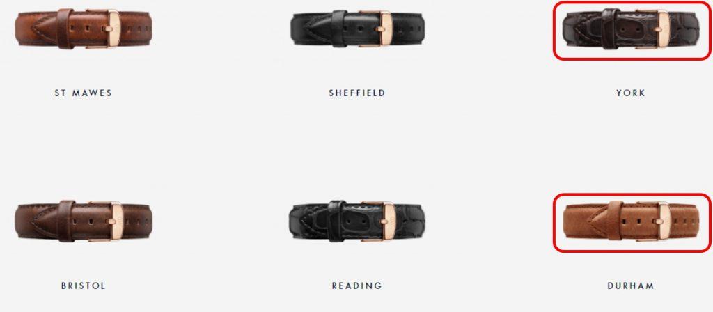 Dây york và durham đồng hồ daniel wellington classic black