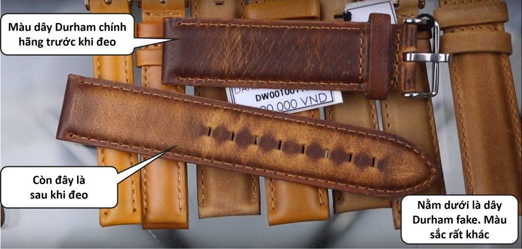 màu dây durham đồng hồ daniel wellington chính hãng trước và sau khi đeo