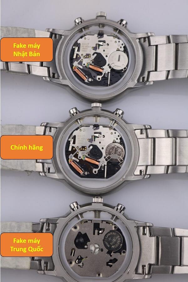 máy móc đồng hồ armani chính hãng và fake